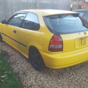 Ek3 Civic Phoenix Yellow